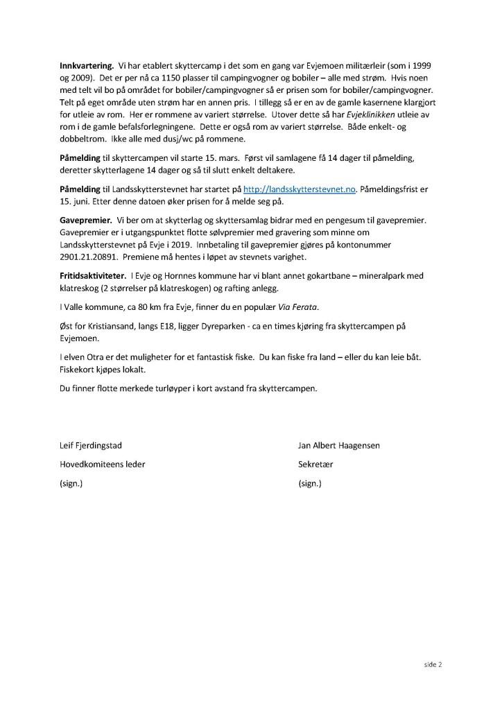 Invitasjon til Landsskytterstevnet 2019 Evje_Page_2