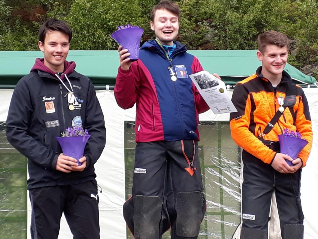 Sondre Grønvoll ble nummer to i bane klasse eldre junior