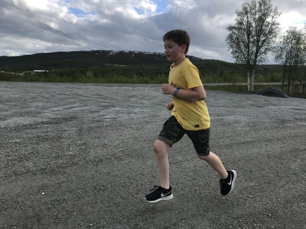 Yngste deltaker Christian i full fart